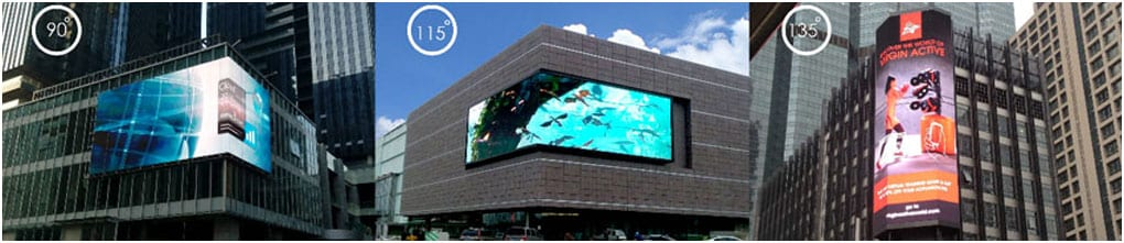 Three Different type of LED Screen, Vertical and Horizontal