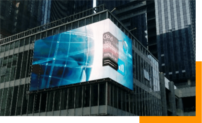 LED Display Screen on Building