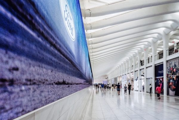 LED Billboard inside an airport