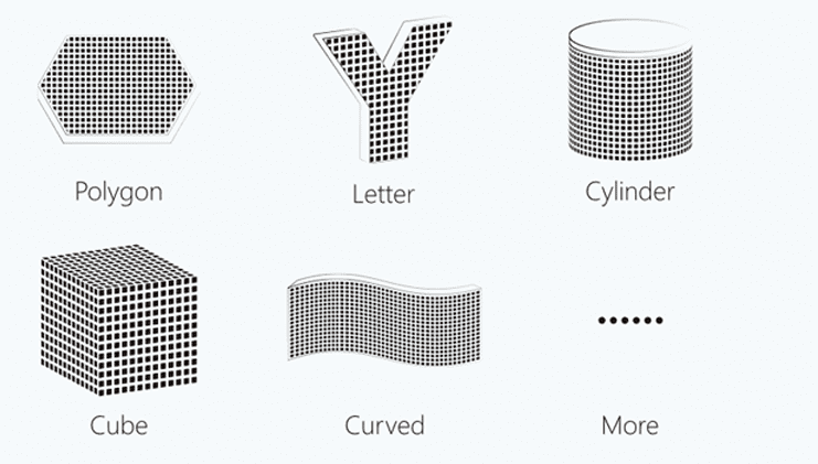 S1 Series Flexible In Shape, Polygon, Letter, Cylinder, Cube Curved