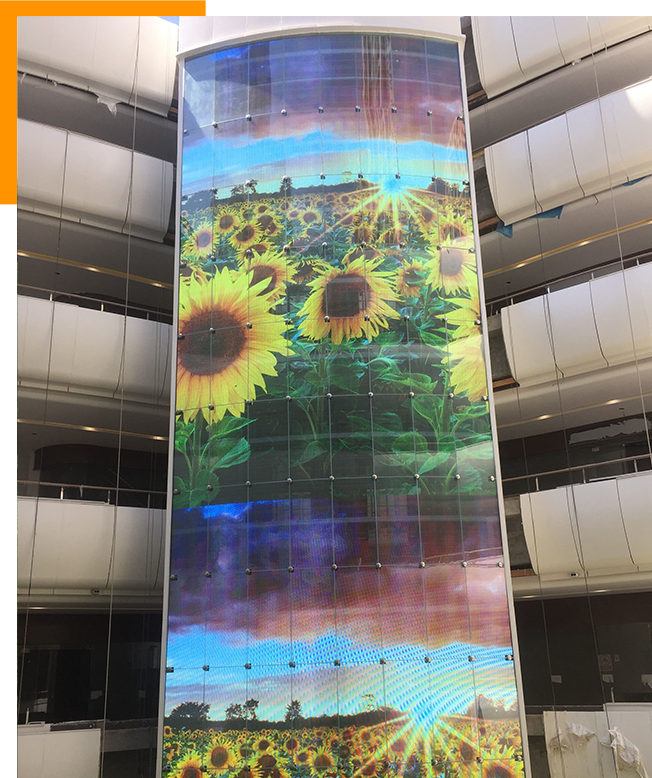 Vertical Clear LED Display